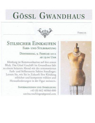 Gössl Newsletter